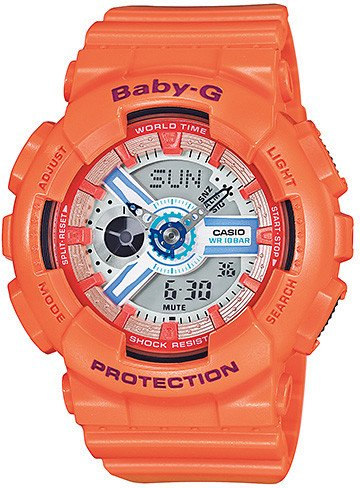 Casio Baby-G Analogue/Digital Female Orange Watch BA110SN-4A