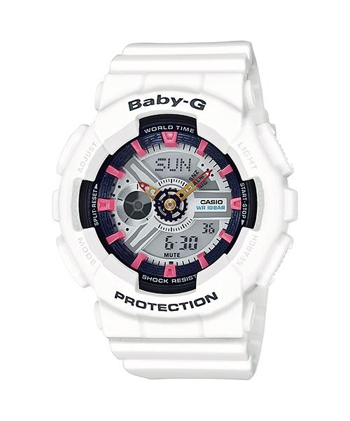 Casio Baby-G Analogue/Digital Female White Watch BA110SN-7A