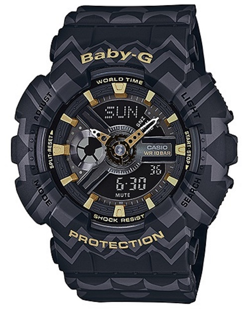 Casio Baby-G Black / Gold Tribal Pattern Limited Edition Watch