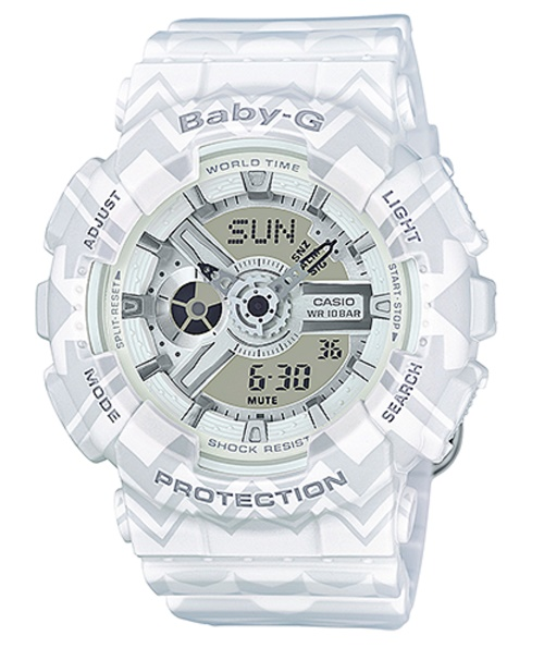 Casio Baby-G White Tribal Pattern Limited Edition Watch BA110TP-7A