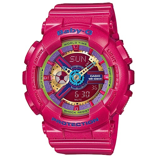 Casio Baby-G Analogue/Digital Female Pink Watch BA-112-4ADR