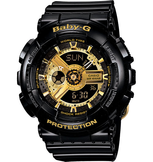 Casio Baby-G Analogue/Digital Female Black Watch BA-110-1A BA-110-1ADR