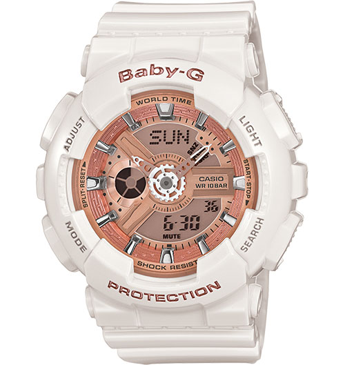 Casio Baby-G Analogue/Digital Female White Watch BA-110-7A1...