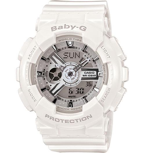 Casio Baby-G Analogue/Digital Female White Watch BA-110-7A3