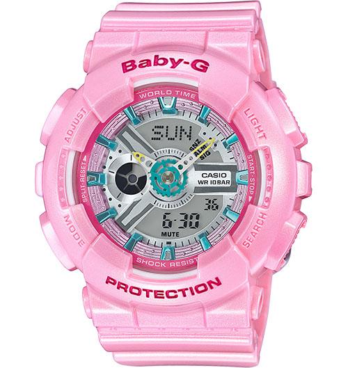Casio Baby-G Analogue/Digital Pink Female Watch BA110CA-4A