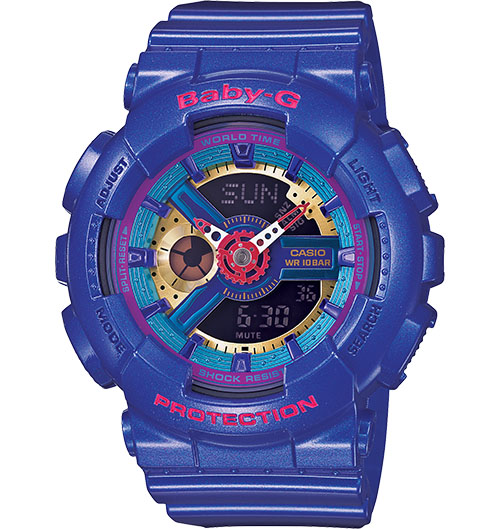 Casio Baby-G Analogue/Digital Female Purple Watch BA-112-2ADR