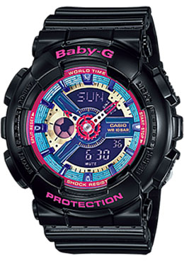 Casio Baby-G Analogue/Digital Female Black Watch BA-112-1ADR