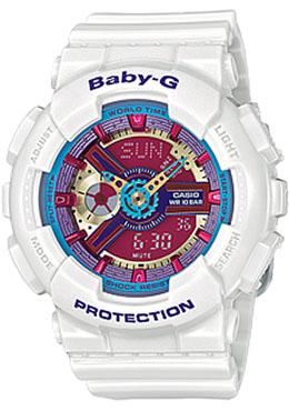 Casio Baby-G Analogue/Digital Female White Watch BA-112-7ADR