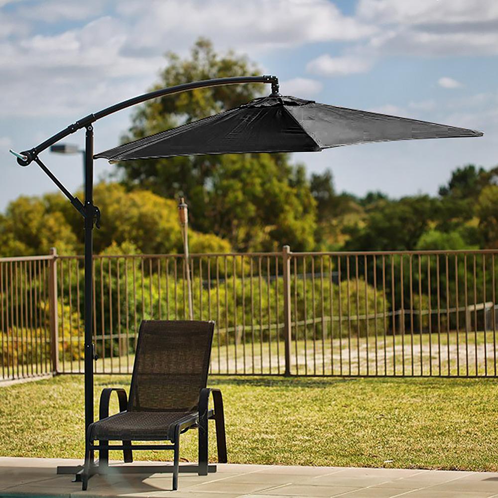 Sorrento Outdoor Living Cantilever Umbrella 2.7M - Charcoal