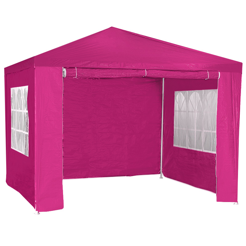 3x3m Wallaroo Outdoor Party Wedding Event Gazebo Tent - Pink