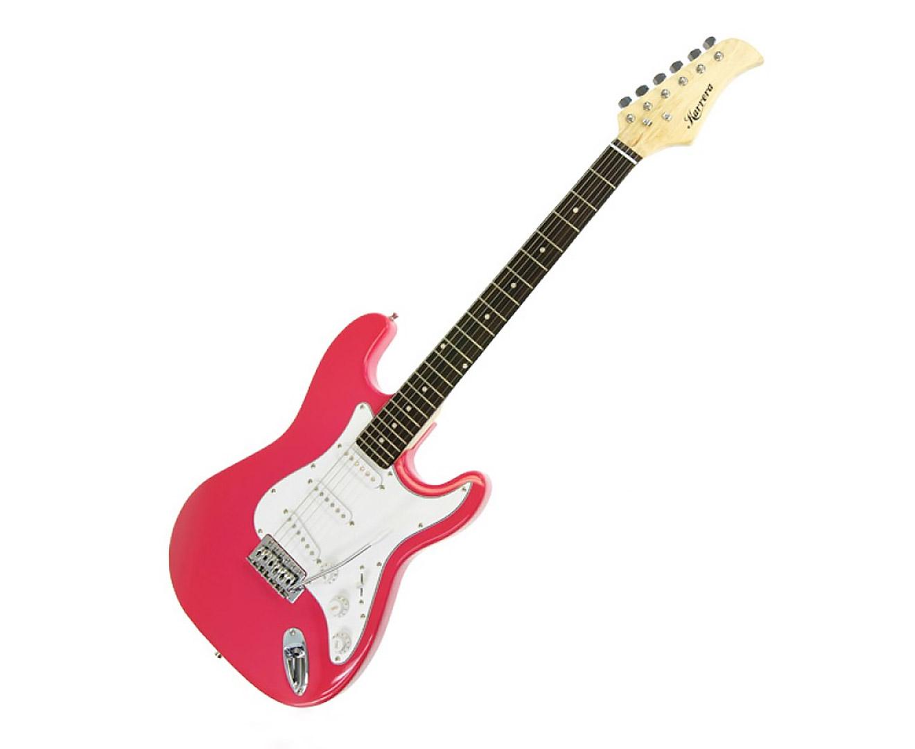 Karrera 39in Electric Guitar  - Pink