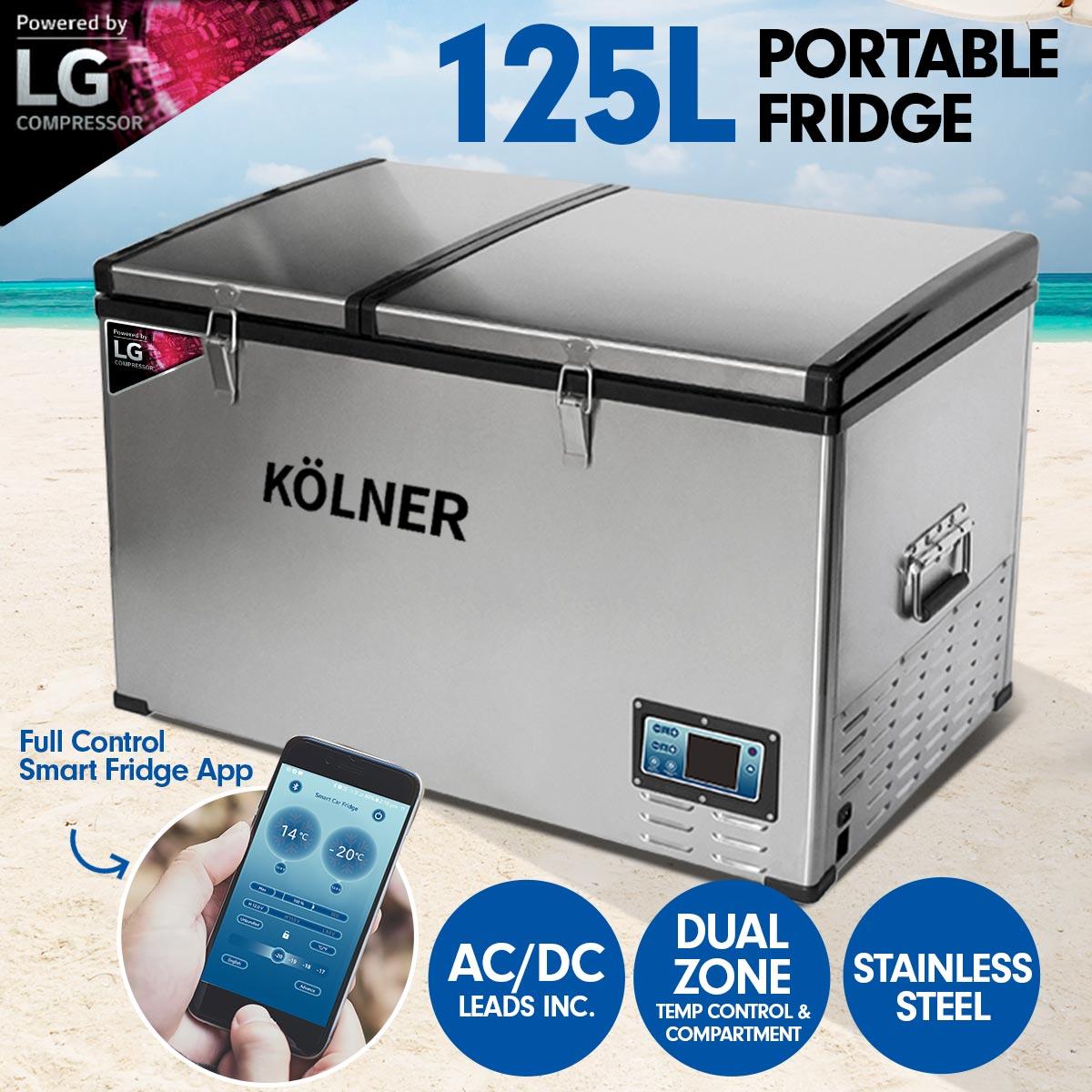 Kolner 125L Portable Fridge Cooler Freezer Camping with LG Compressor
