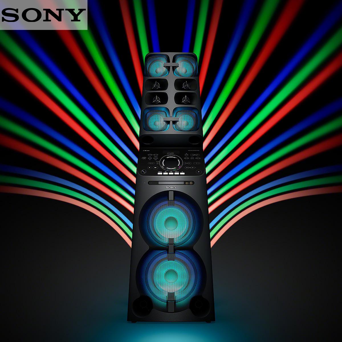 SONY High Power Home Audio Bluetooth Wi-Fi System - MHCV90DW