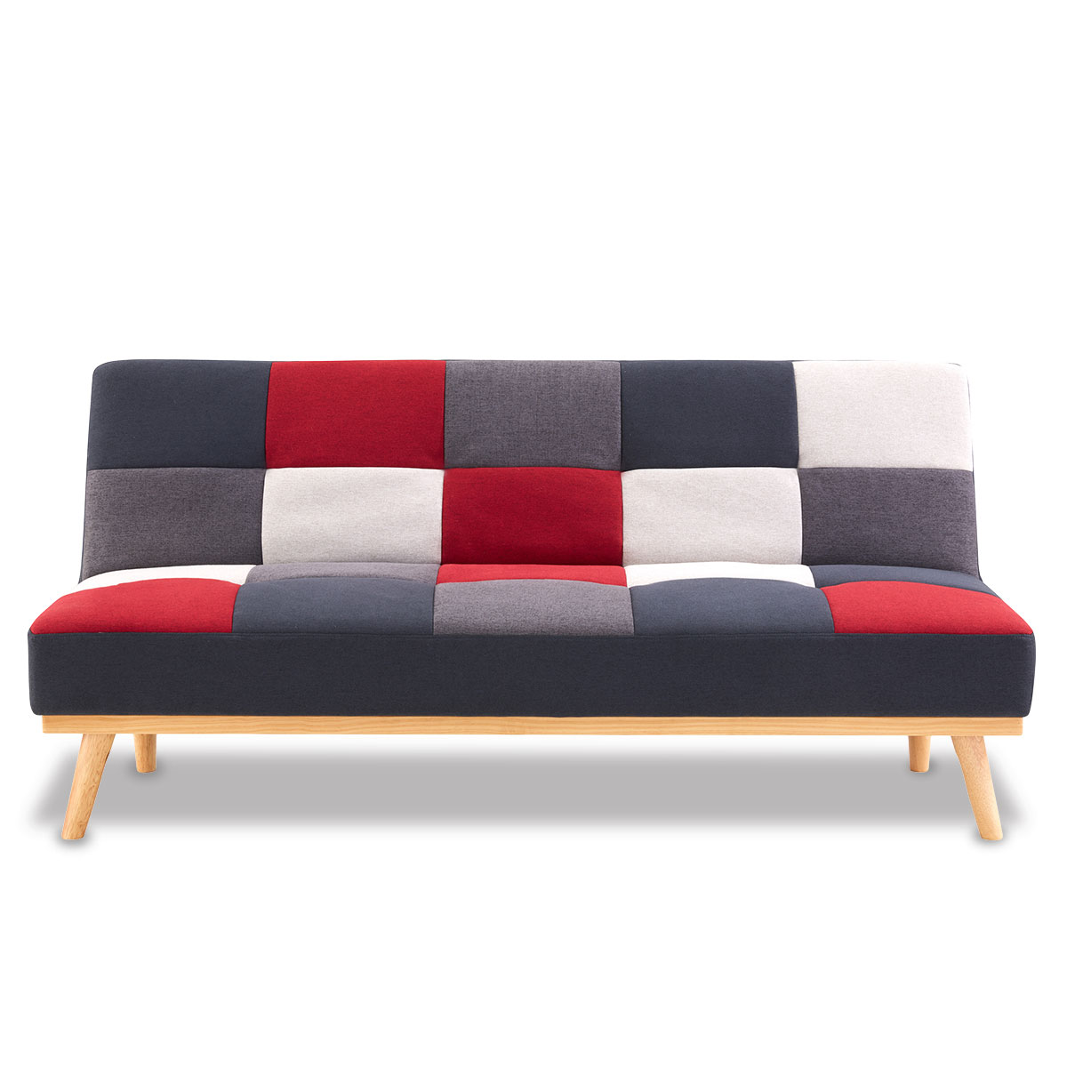 3 Seater Modular Linen Fabric Sofa Bed Couch - Multi-colour