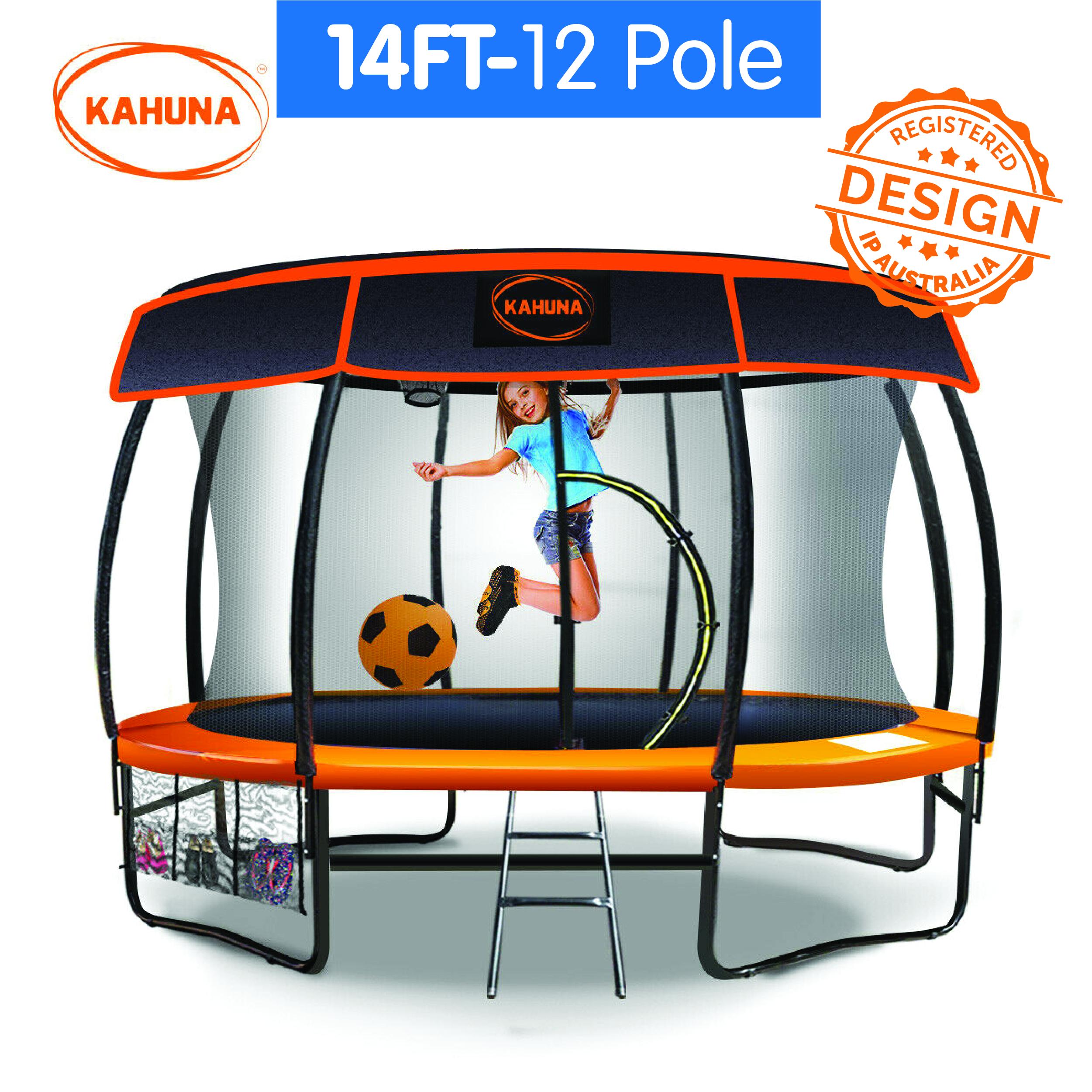 14ft-12 Pole Kahuna Trampoline Roof Shade Cover