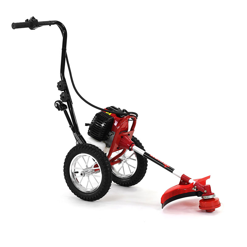 Yukon 52cc Wheeled Petrol Garden Line Trimmer Brush Cutter