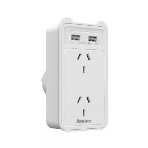 2 Outlet Surge Protected Powerboard With Dual Usb Charging Ports