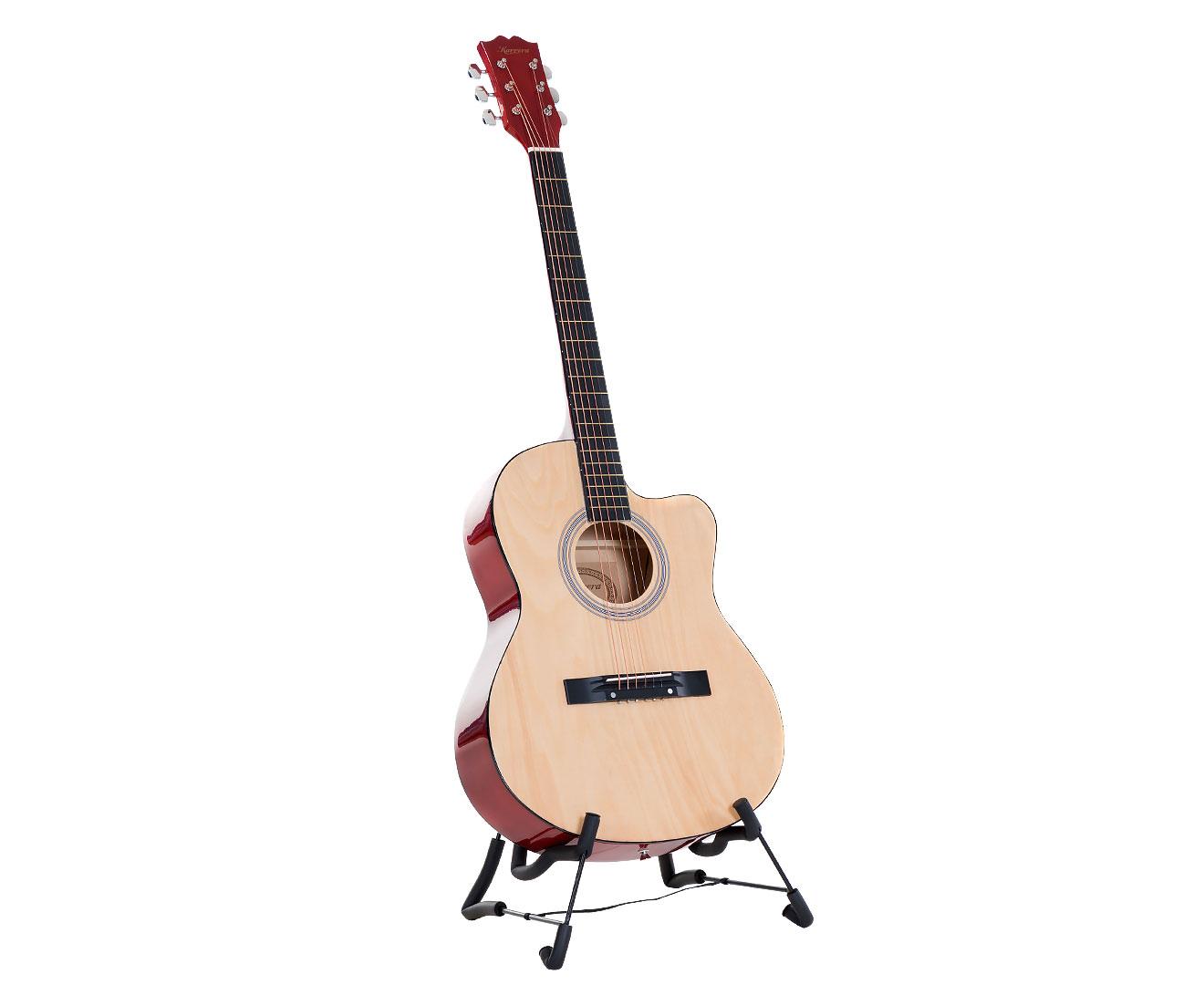 Karrera Acoustic Cutaway 40in Guitar - Natural