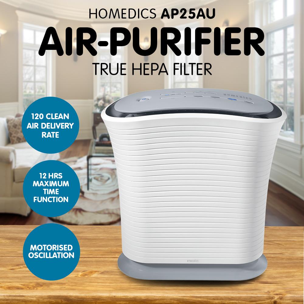 Homedics AP25AU Air Purifier/Cleaner True HEPA Filter