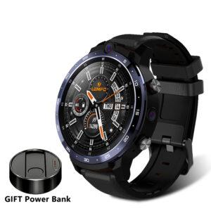 [Free Gift]LEMFO LEM12 1.6 Inch Face Unlock Smart Watch Dual Camera Music Play Store 3G+32G WIFI GPS 4G Watch Phone