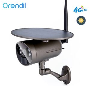 Orendil OSE-12 4G LTE camera 1080P Solar Camera Outdoor Surveillance Camera IP