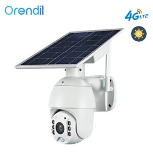 Orendil OSE-03 4G LTE 1080P Dome Camera 5W Solar Panel Battery Security Camera