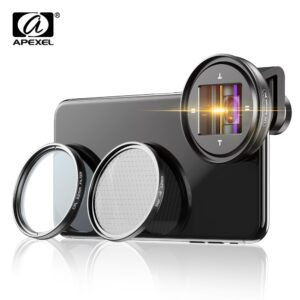 APEXEL professional 1.33x anamorphic lens HD WideScreen moive Lens