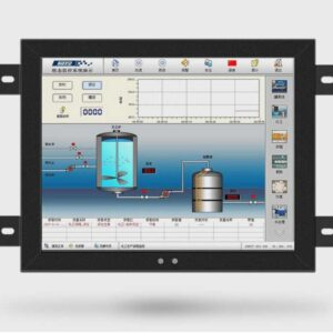 8 inch 1024x768 or 800x600 touch screen industrial all in one pc monitor with USB VGA DVI HD