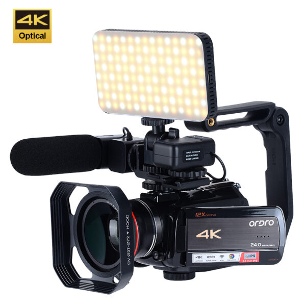 ORDRO AC5 UHD 12X Optical Zoom Live Streaming Professional Wifi 4K Video Camera