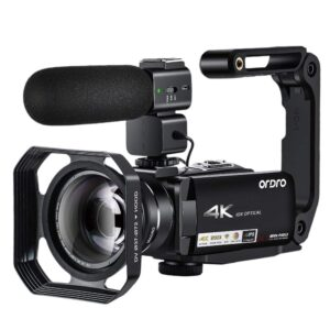 AC7 4K UHD10X Optical Zoom Wifi Camcorder Vlog Interview Wedding Video Camera