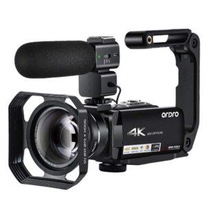 AC7 4K UHD10X Optical Zoom Wifi Camcorder Vlog Interview Wedding Video Camera