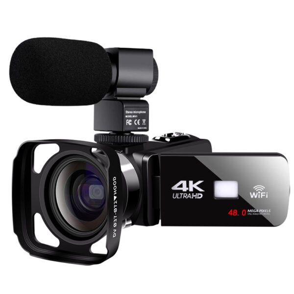 UHD Real 4K Video Camera 48MP 3.0 Inch Touch Screen Night Vision Vlogging Camera