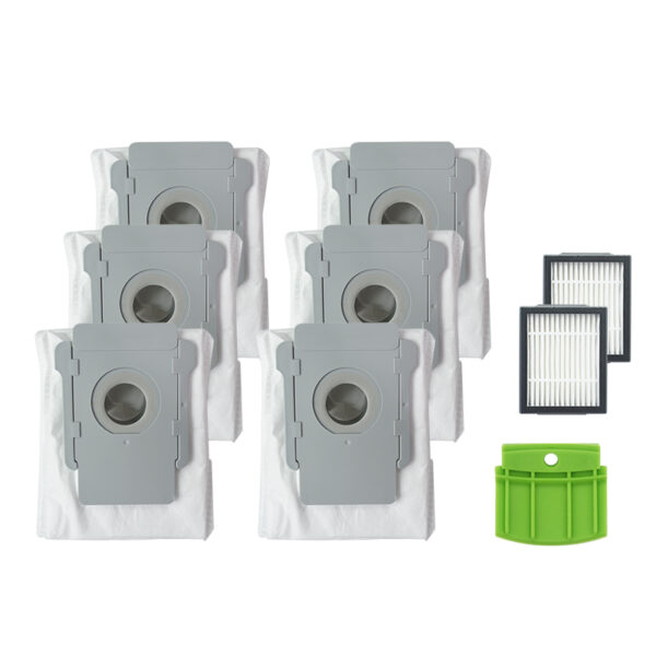 9pcs Replacements for iRobot Roomba i7 Vacuum Cleaner Parts Accessories 6*Dust Bags 2*Filters 1*Silicone Baffle