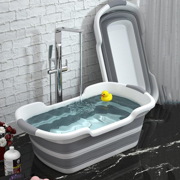 Portable Silicone Baby Shower Bath Tub Foldable Bathtub Safety Cat Dog Pet Toys Bath Tubs
