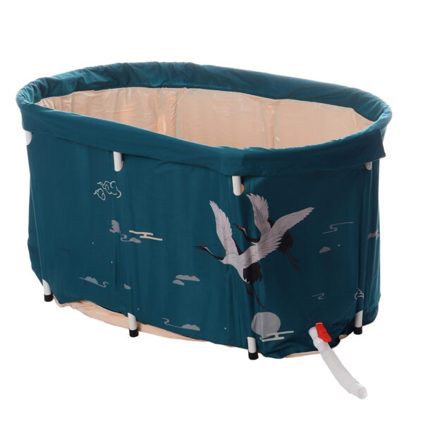 Crane Folding Bathtub Water Tub Indoor Outdoor Portable Adult Spa Bath Bucket