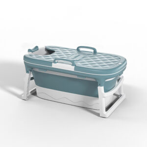 1.15/1.38m Large Thickened Bathtub Bath Barrel Adult Children's Folding Tub Basin Baby Swim Tub Sauna 2size