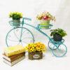 3 Tier Bicycles Plant Stand Metal Flower Pots Garden Decor Shelf Rack