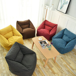 75*65*40cm Bean Bag Cover and Wash Bag Chair Indoor for Adults Kids Multicolor Lazy Sofa