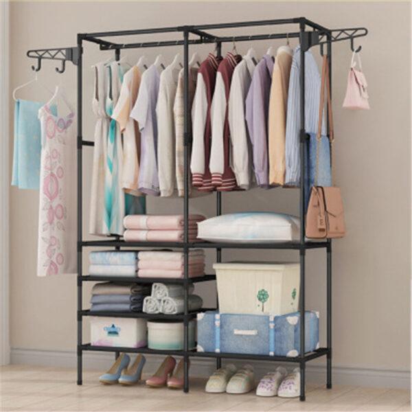 108x36x170cm Storage Rack Clothes Shelf Hanger Garment Stand Closet Organizer Wardrobe Rail