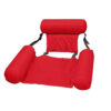 Water Lounge Chair Summer Swimming Inflatable Foldable Floating Row Backrest Air Mat Party Pool Toy