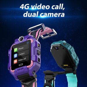 4G Kids Smart Watch Dual Cameras 360° Rotation GPS Location
