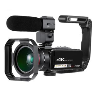 4K digital video camera with 500 million pixels,Support IOS/Android and 3.0'' touch display