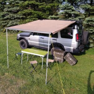 Roof Top Tent Camper Trailer Cotton Canvas Foxwing Awning