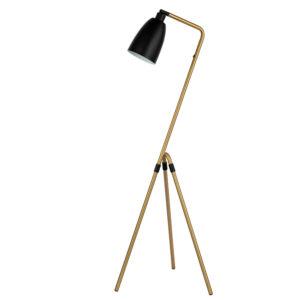 Modern Simple Bullet Lamp Shade Fashion Bronzed Tripod Legged Floor Lamp
