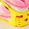 10Pcs/1Set Durable Plastic Home Double Layer Shoes Storage Racks Shoe Shelf Holder Organizer Space-Saving
