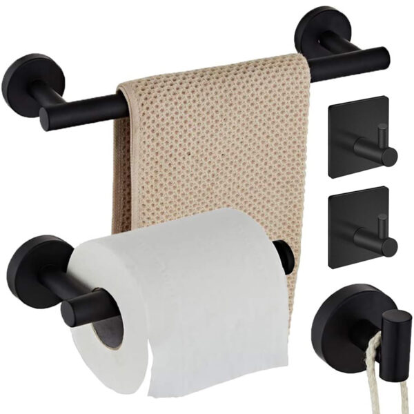 Towel Rack 304 Stainless Steel Toilet Paper Roll Holder Shelf Bathroom Washroom