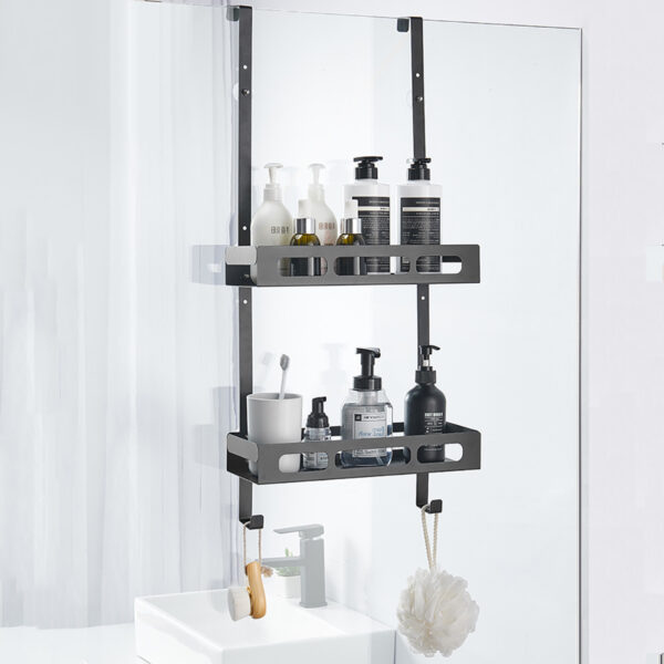 Hanging Bath Rack Bathroom Shower Shelf Shampoo Storage Holder Organizer
