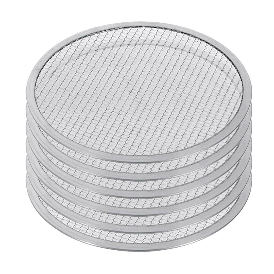 SOGA 6X 10-inch Round Seamless Aluminium Nonstick Commercial Grade Pizza Screen Baking Pan