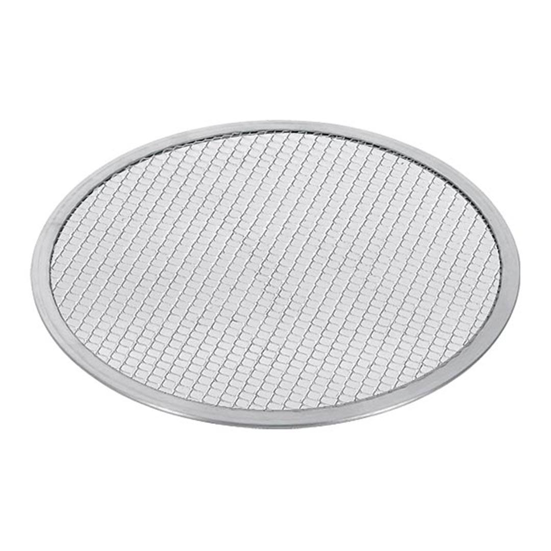 SOGA 14-inch Round Seamless Aluminium Nonstick Commercial Grade Pizza Screen Baking Pan