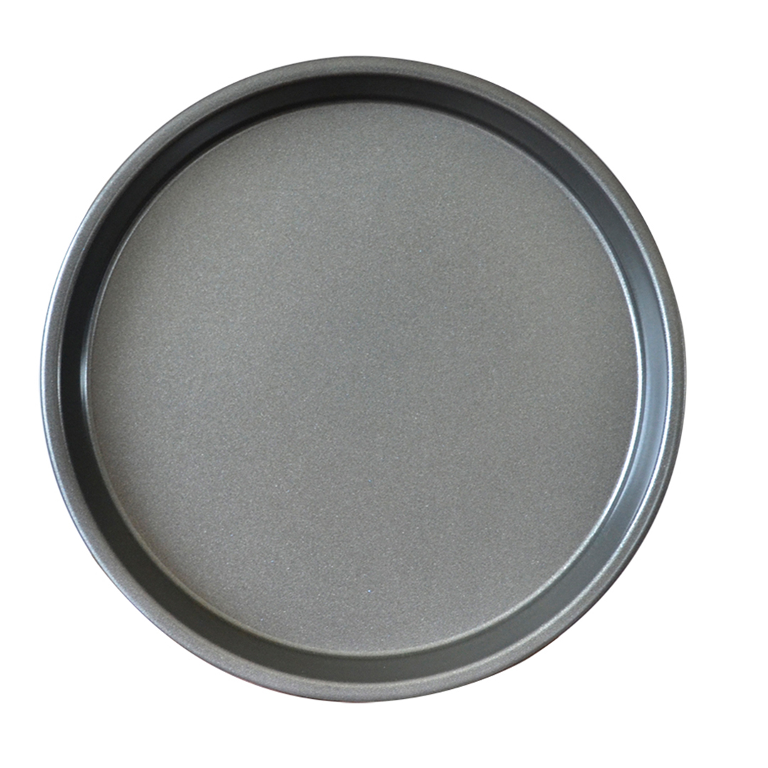 SOGA 8-inch Round Black Steel Non-stick Pizza Tray Oven Baking Plate Pan